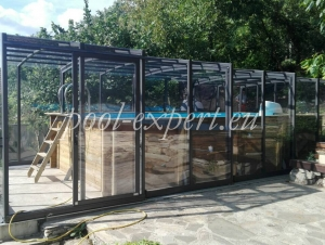 Wooden pool Weva 600 x 300 x 133 cm, pool enclosure Vision, Pleven