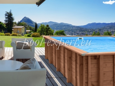 Rectangle wooden pool 780 x 434 x 133 cm