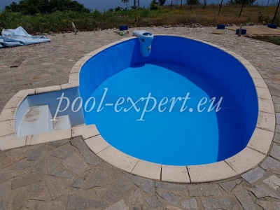 Private swimming pool, Kavarna, pool liner replacement